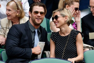 "Chris ""Thor"" Hemsworth and his wife"