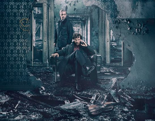 WARNING: Embargoed for publication until 15:00:00 on 09/01/2017 - Programme Name: Sherlock - TX: 01/01/2017 - Episode: Sherlock S4 - Generic (No. 1) - Picture Shows: **STRICTLY EMBARGOED UNTIL 9TH JANUARY 2017 at 15:00 GMT** Dr John Watson (MARTIN FREEMAN), Sherlock Holmes (BENEDICT CUMBERBATCH) - (C) Hartswood Films - Photographer: Todd Antony